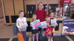 LTSS students returned from Jelgava open minitennis tournament