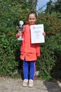 Enija Paula Aploka wins 1st place in tournament in Germany