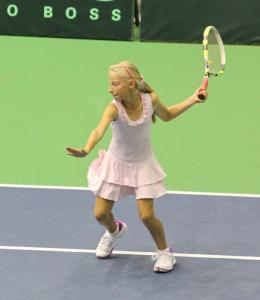 Patrīcija Špaka is included in the Latvian U12 tennis team for team competition in the Czech Republic