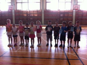 Winners of mini-tennis tournament are known