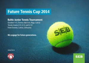 "This weekend in Riga will take place ""Future tennis cup by SEB"" tournament for youth"