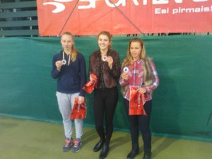 Gold and silver from Latvian Tennis union cup 1st leg