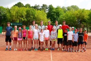 Davis Cup draw and training with kids have taken place