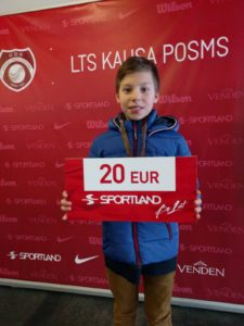 At 1st leg of LTU cup for U12 to Liepaja goes gold and bronze