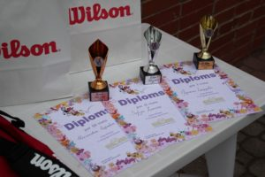 Young tennis players success in April