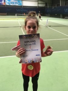 Last weekend our tennis players had various success at tournaments