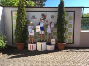 In Liepaja tennis tournament with 63 young tennis players