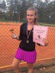 Signija Stībele triumphs in women tournament