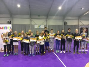 In the LTU cup conclusion young Liepaja tennis players wins medals
