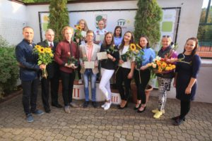 9 young tennis players graduates Liepaja Tennis Sport school