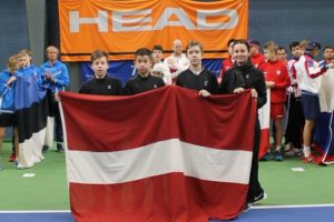 Liepaja young tennis players in team Latvia