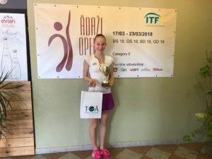 Patrīcija Špaka takes double victory in ITF Juniors tournament