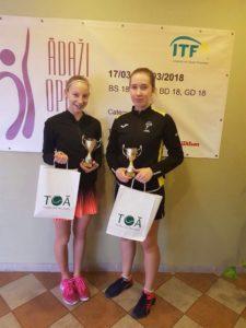 Patrīcija Špaka izcīnīja dubultuzvaru ITF Juniors turnīrā