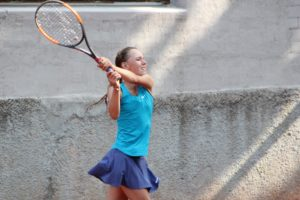 In Liepaja International tournament succeeds Latvian, China and Belarus young tennis players