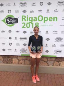 Patrīcija Špaka takes double win at Juniors ITF tournament