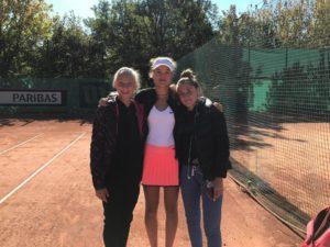 Our Patrīcija Špaka competes at Junior Fed Cup by BNP Paribas Final