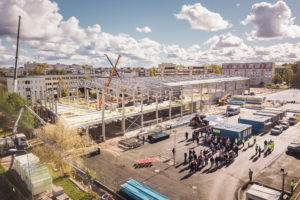 Building of Liepaja tennis hall already in midway