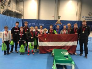 Latvia young tennis players 3rd year in a row wins SEB Baltic Future cup