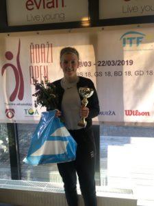 Elza Tomase takes a win in ITF Juniors tornament