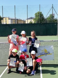 Young tennis players shows good results