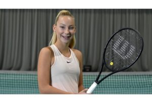 Patrīcija Špaka takes first WTA ranking point in Parnu