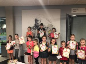 Liepaja tennis season concluded with tournament for the youngest tennis players