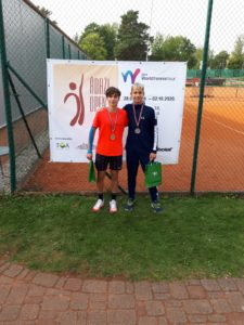 Our Dāvids Špaks finishes 2nd in ITF Juniors Doubles