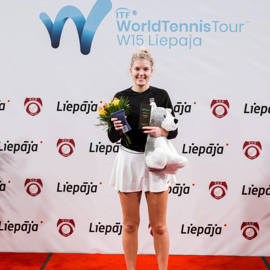 Elza Tomase uzvarot ITF W15 Liepājas turnīrā